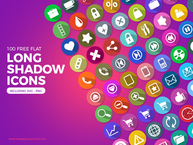 100-Free-Flat-Long-Shadow-Icons-Ai-PNG-SVG-Formats