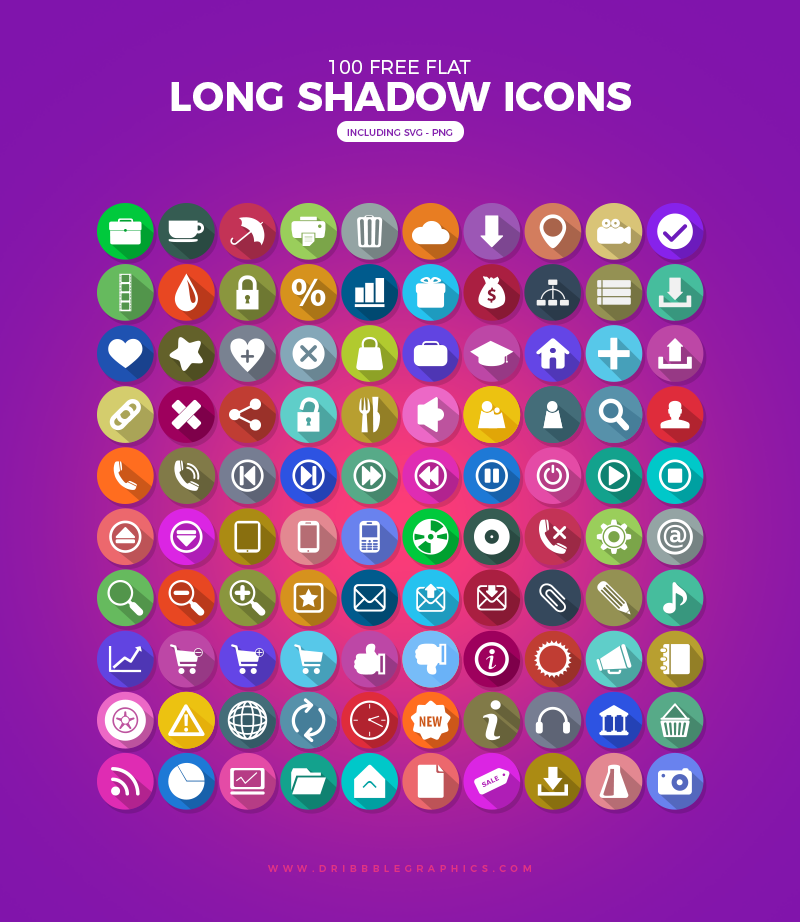 100-Free-Flat-Long-Shadow-Icons-Ai-PNG-SVG