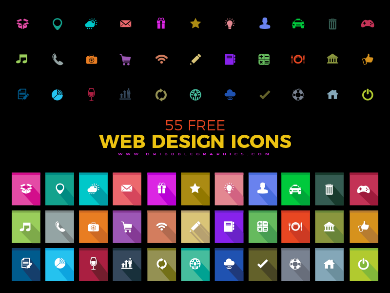 Free Web Design Icons