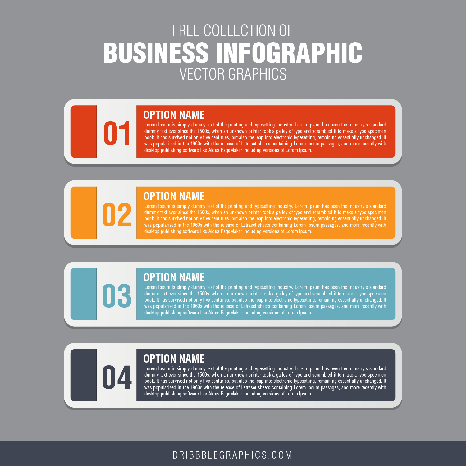 Free Collection of Business Infographic Vector Graphics-01