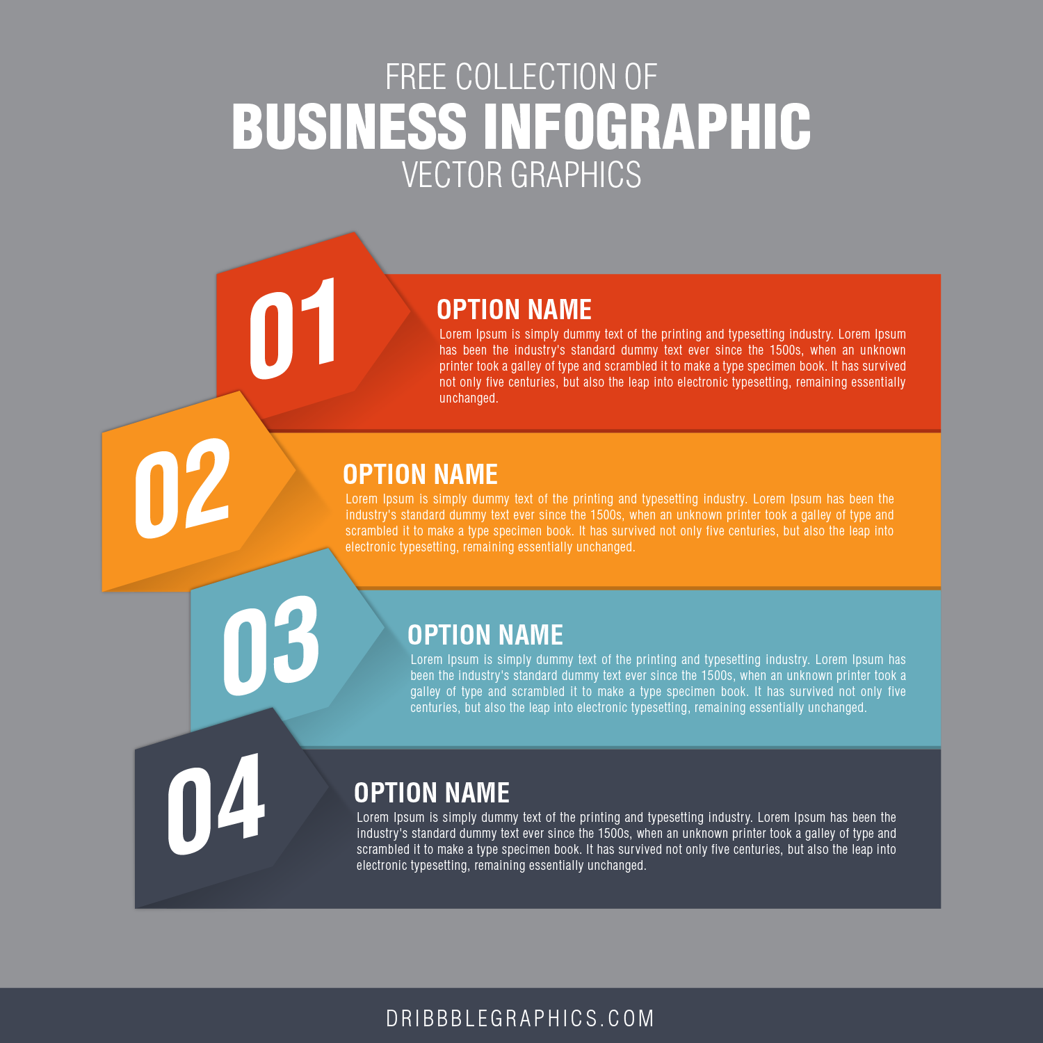 Free Collection of Business Infographic Vector Graphics-02