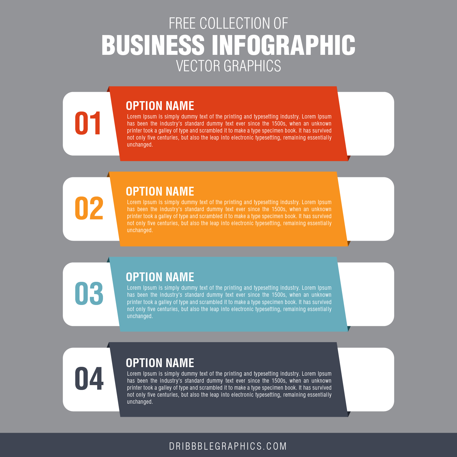 Free Collection of Business Infographic Vector Graphics-03
