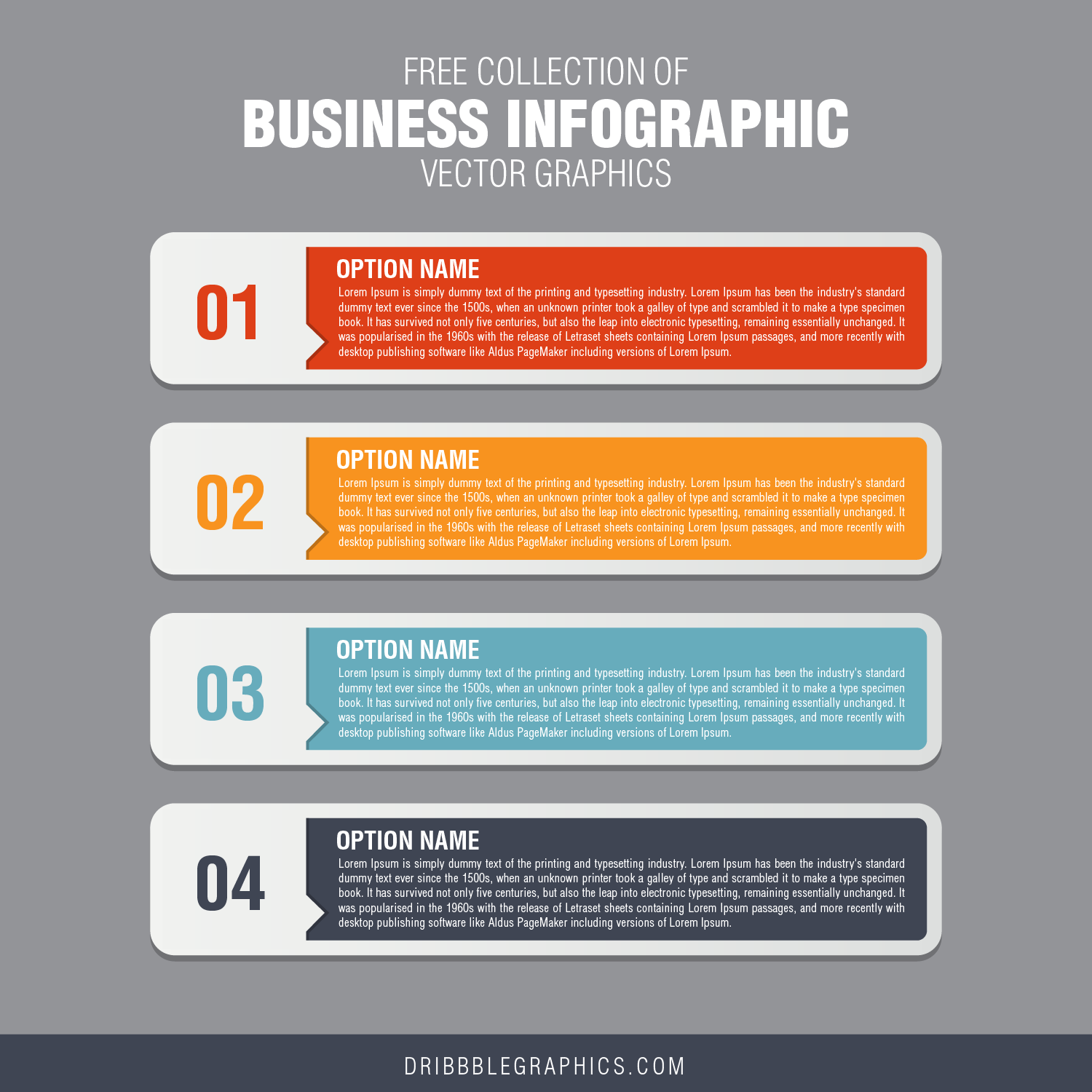 Free Collection of Business Infographic Vector Graphics-04