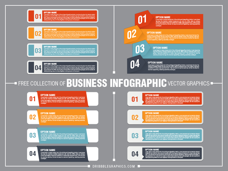 Free-Collection-of-Business-Infographic-Vector-Graphics