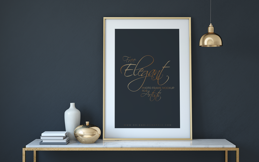 Free-Elegant-Photo-Frame-Mock-up-Psd-For-Artists
