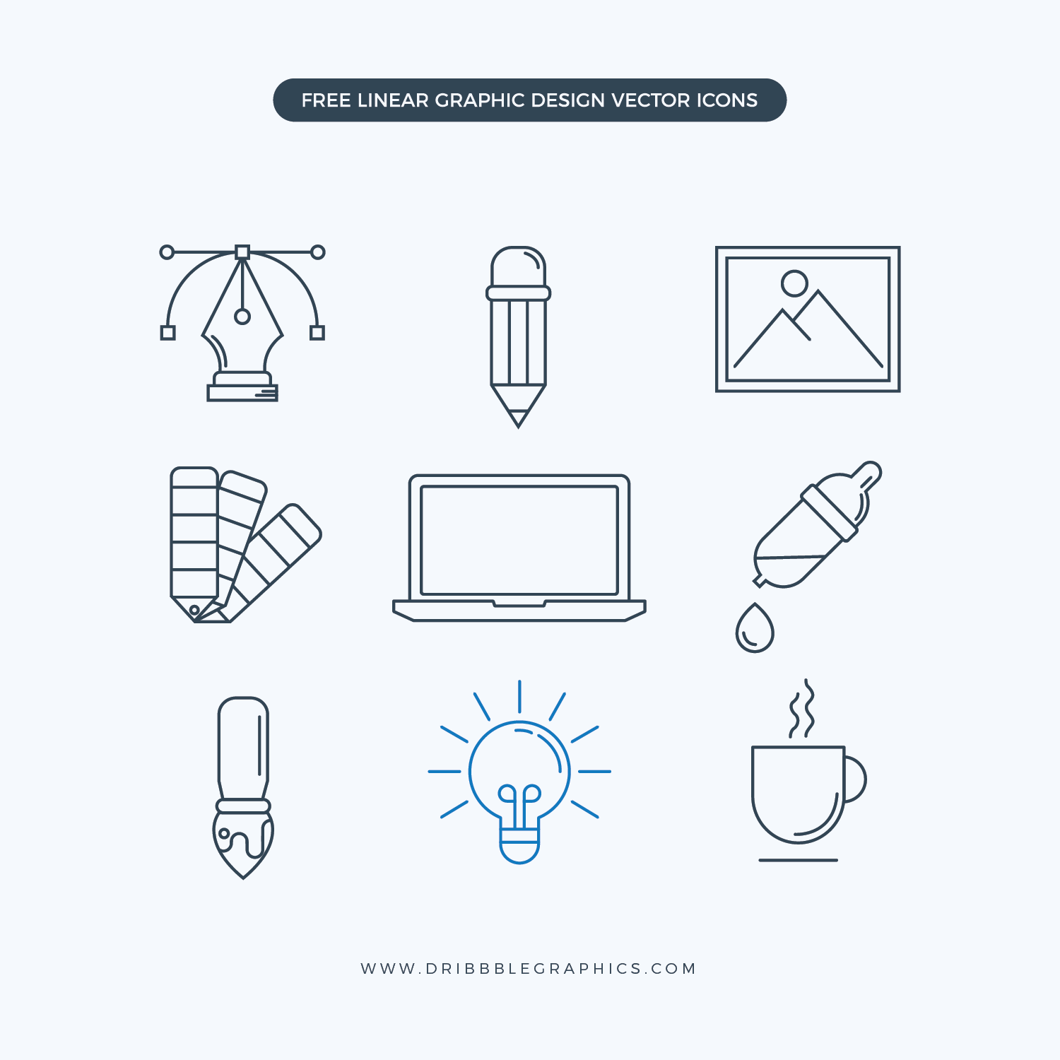 Free Linear Graphic Design Vector Icons