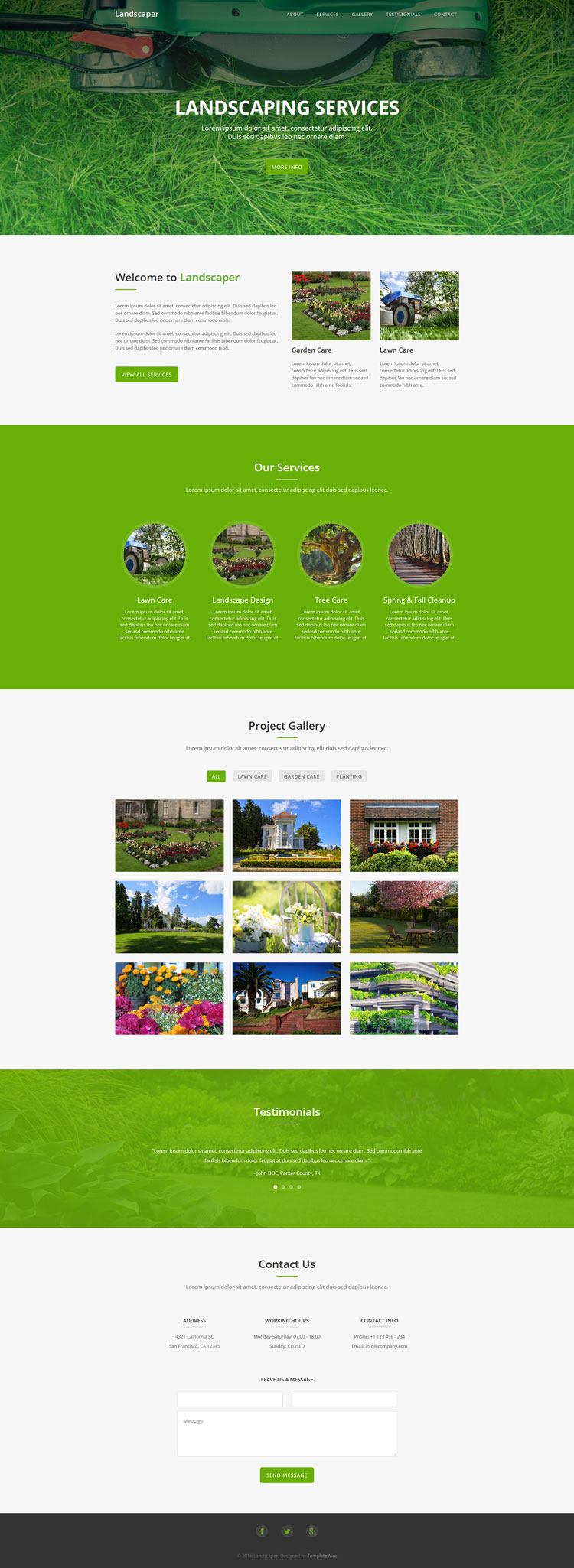Landscaping Free Website Template