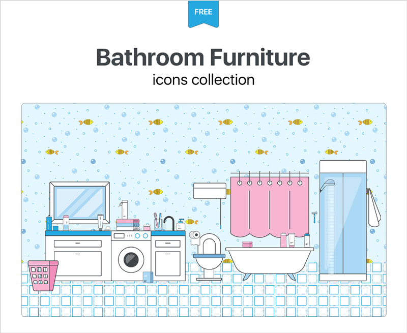 Free-Bathroom-&-Furniture-Icons-Collection-1