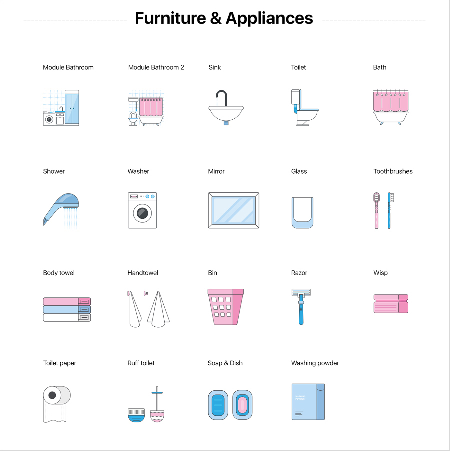 Free-Bathroom-&-Furniture-Icons-Collection-2