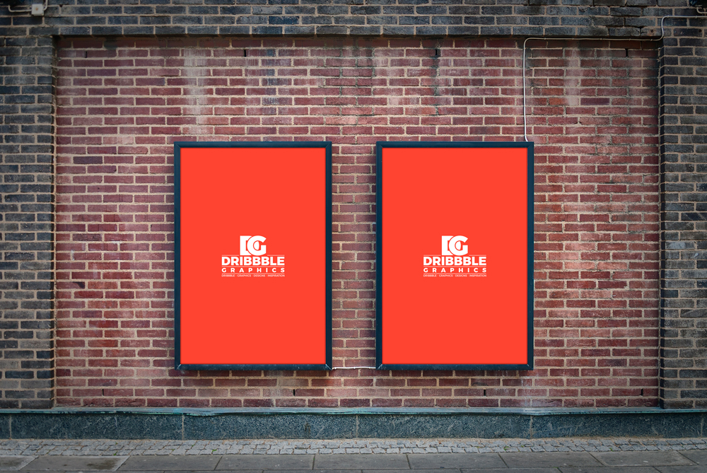 free outdoor street billboard poster mockup psd dribbble graphics