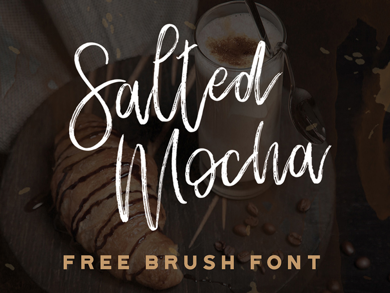 Free-Salted-Mocha-Brush-Font