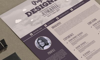 Free-Vintage-Style-Designers-Resume-Design-Template-300