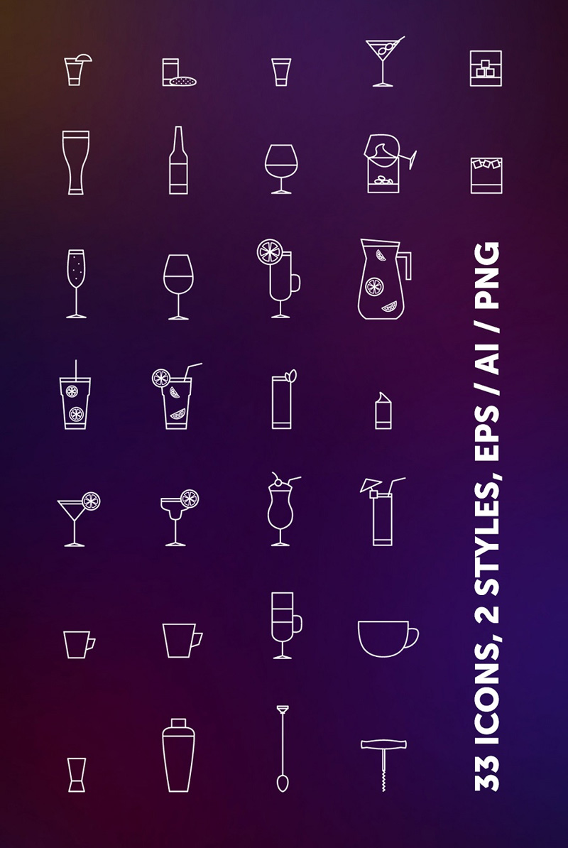Free-Bar-Drinks-Icons-in-Vector-Format-1