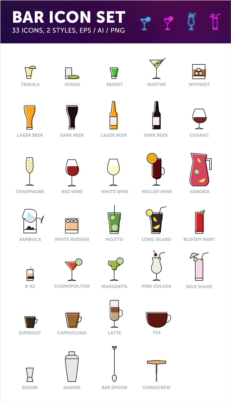 Free-Bar-Drinks-Icons-in-Vector-Format