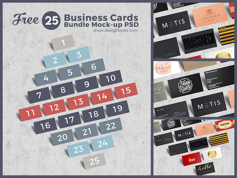 Free-Business-Cards-Bundle-MockUp-PSD-Template