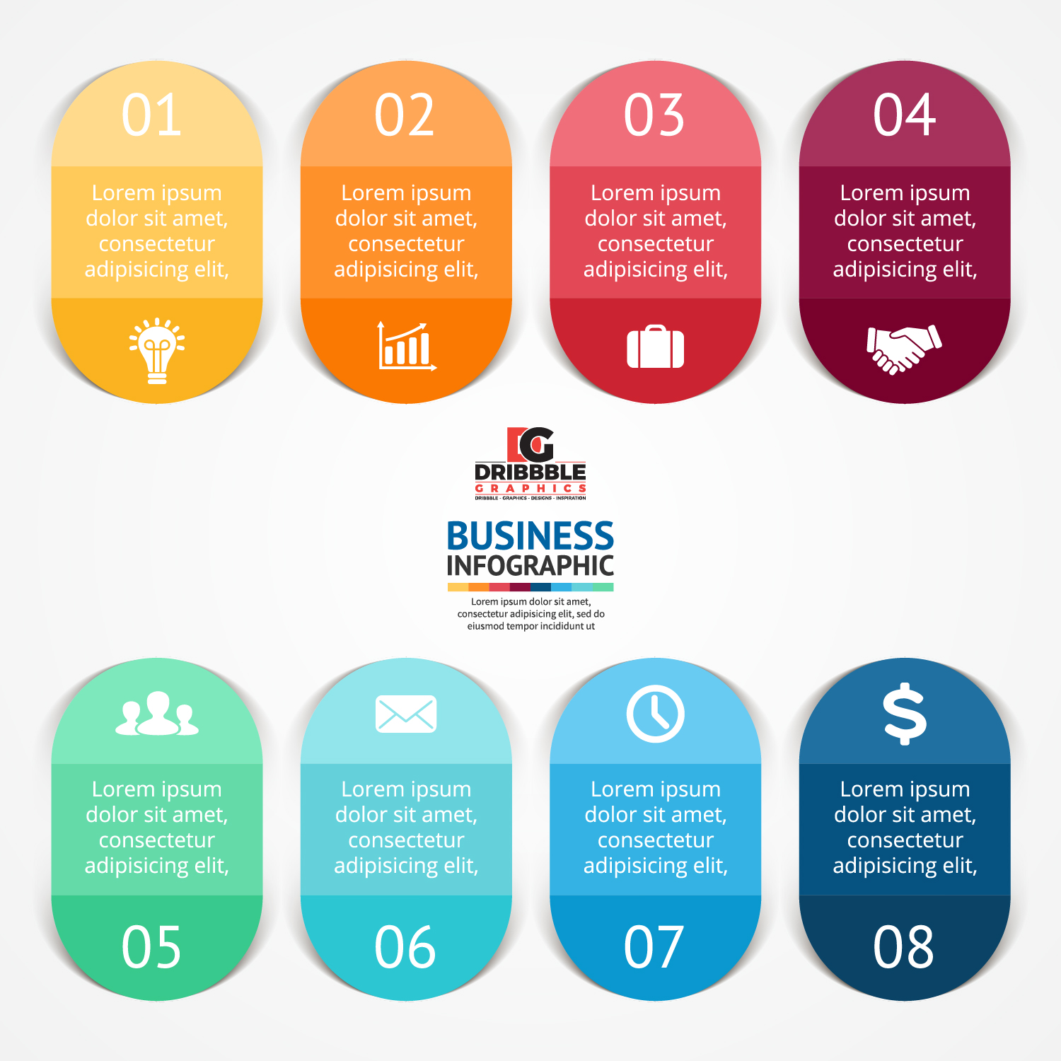 Free Business Infographics Vector Graphics-02