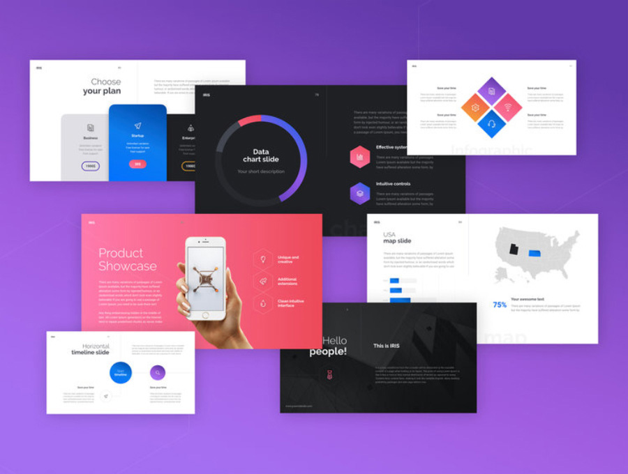 Free-Unique-&-Creative-IRIS-Business-Infographical-Keynote-Presentation-Template-3