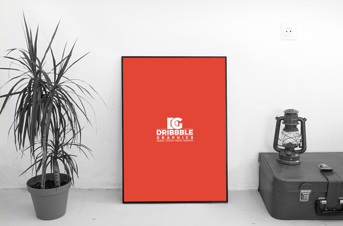 Free-Artistic-Indoor-Photo-Frame-Mockup