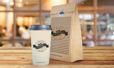 Free-Coffee-Cup-and-Paper-Bag-Mockup