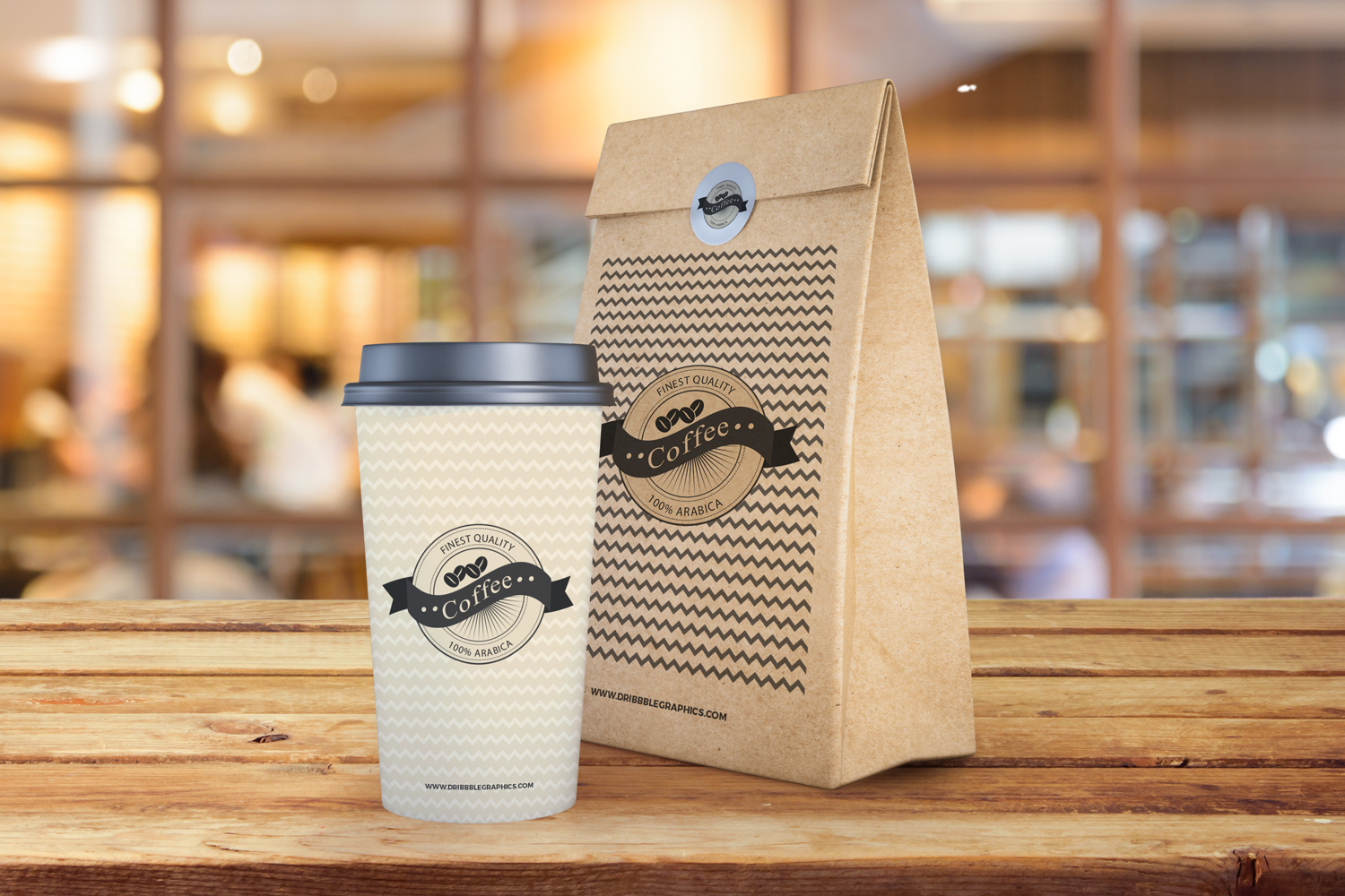 Free Coffee Cup and Paper Bag Mockup PSD | Dribbble Graphics
