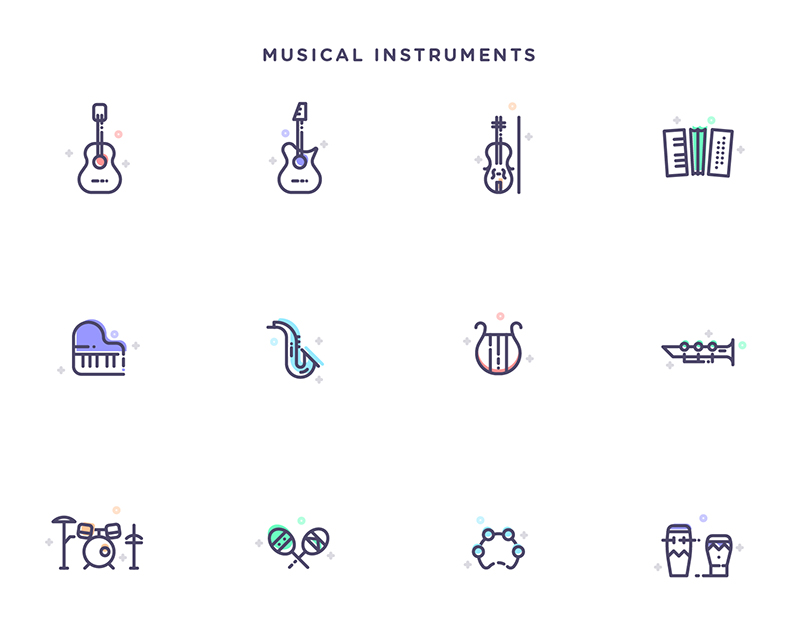 Free-Instruments,-Transportation-&-Kitchen-Tools-Icons-Set-6