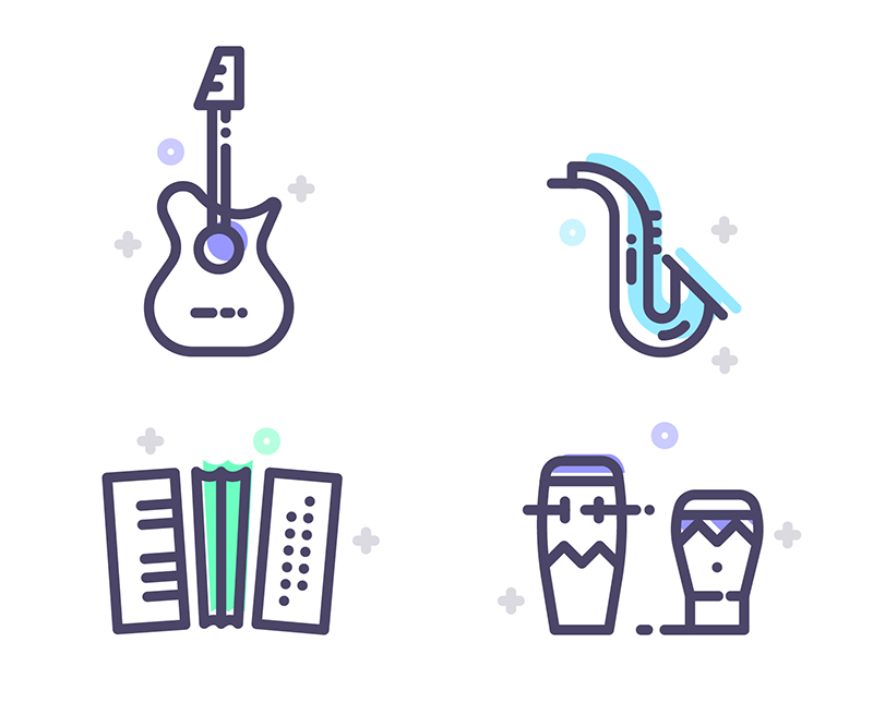 Free-Instruments,-Transportation-&-Kitchen-Tools-Icons-Set-7