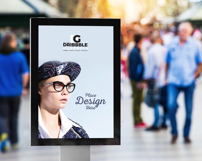 Free-Public-Place-Vertical-Billboard-Mockup-For-Advertisement