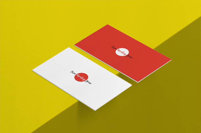 Free-Texture-Background-Front-&-Back-Business-Card-Mockup