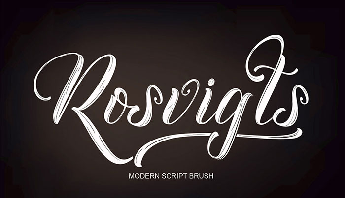 Rosvigts-Modern-Script-Brush-Style-Font