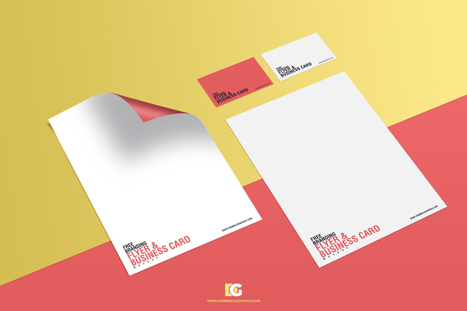 Free-Branding-Flyer-&-Business-Card-Mockup-Preview