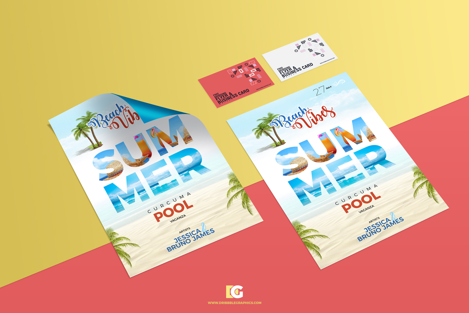 Free-Branding-Flyer-&-Business-Card-Mockup
