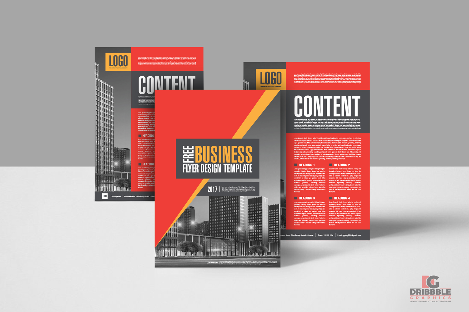 Free Creative Business Flyer Design Template