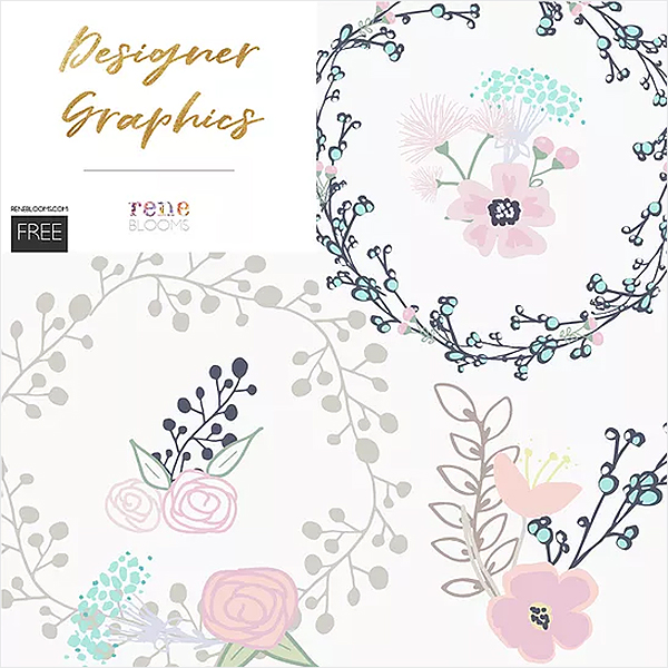 Free-Cute-Floral-Bunches-and-Wreaths-Vector-Graphics