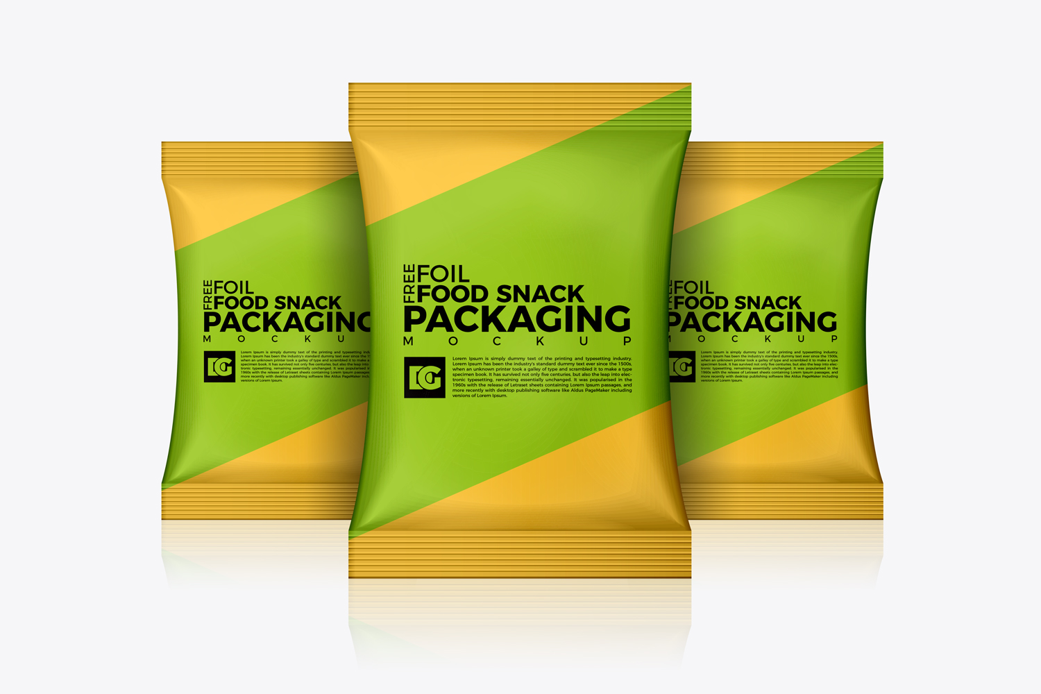 Free Foil Food Snack Packaging Mockup Dribbble Graphics