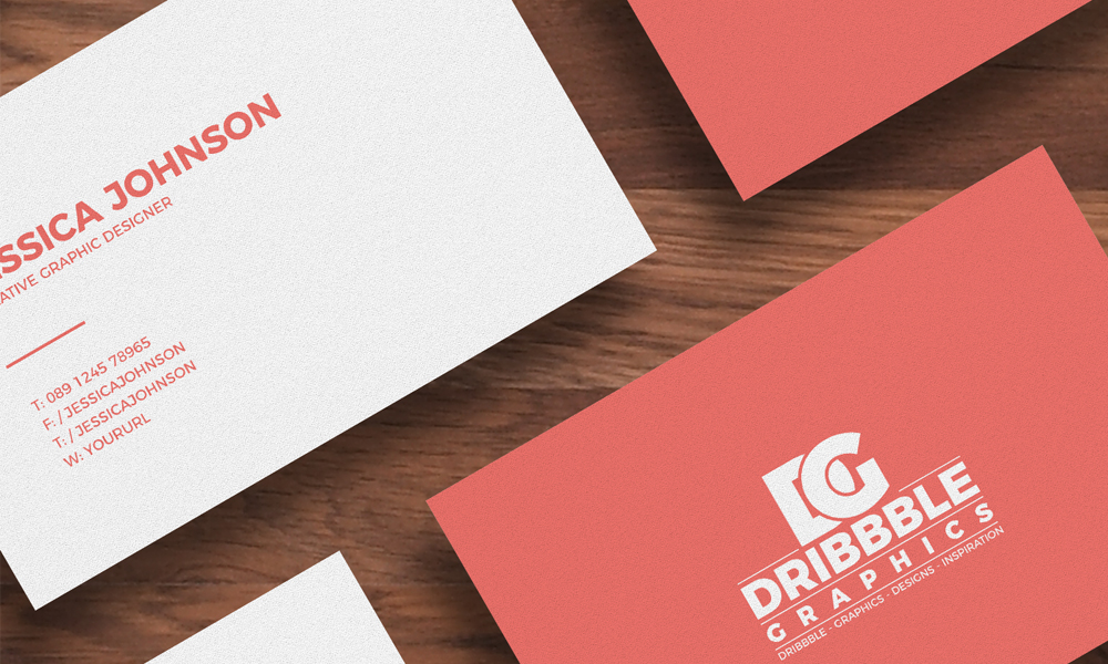 Free Isolated Business Card Mockup | Dribbble Graphics