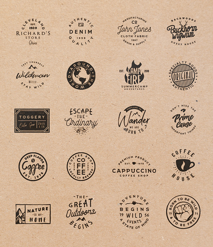 Free-Retro-Badges-Templates
