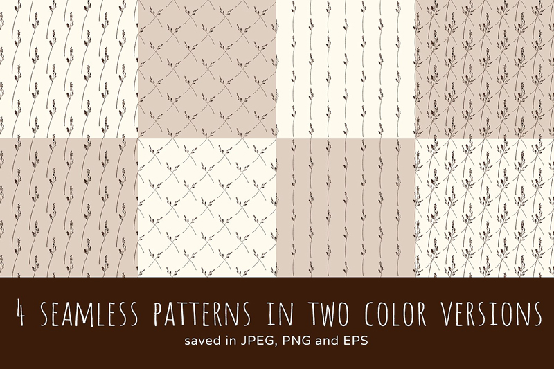 4-seamless-patterns-wild-herbs