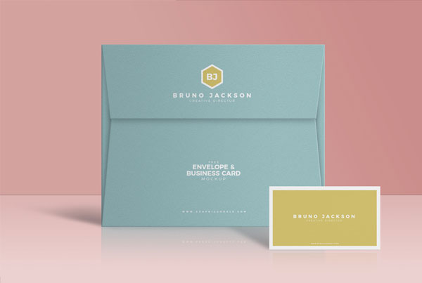 Envelope-&-Business-Card-Mockup-PSD