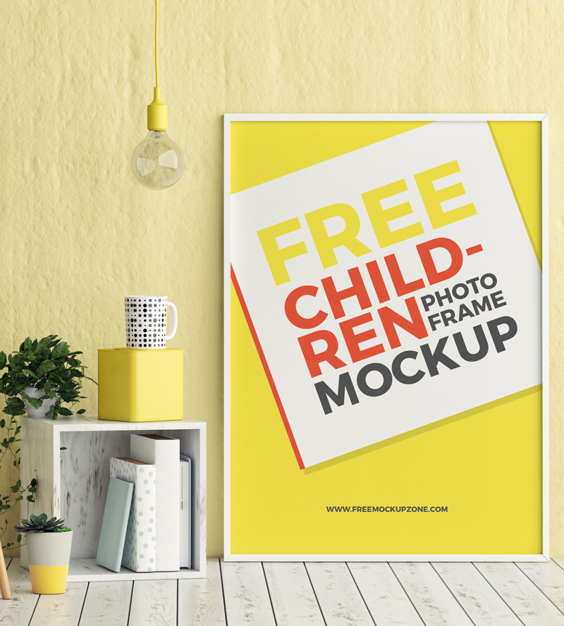Free-Kids-Room-Photo-Frame-Mockup-PSD-Template