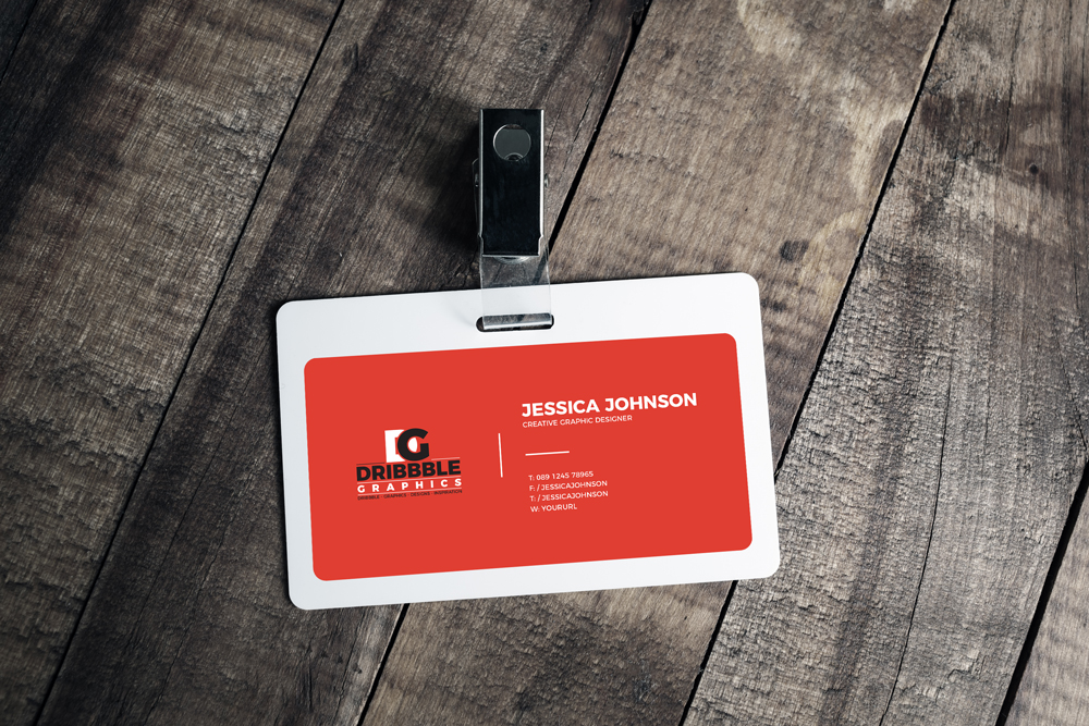 Free-Plastic-ID-Card-Badge-Mockup