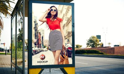 Outdoor-Advertisement-Bus-Stop-Billboard-Mockup