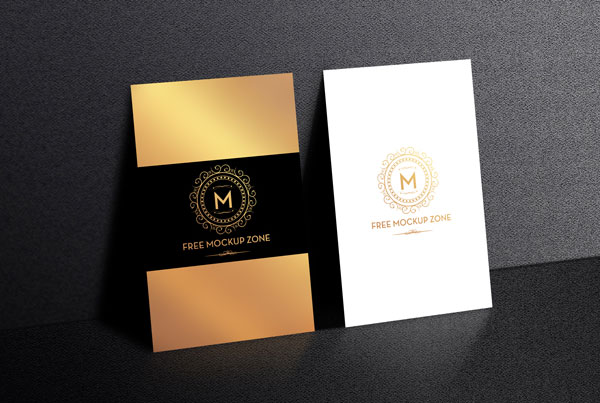 Standing-Display-Business-Card-Mockup