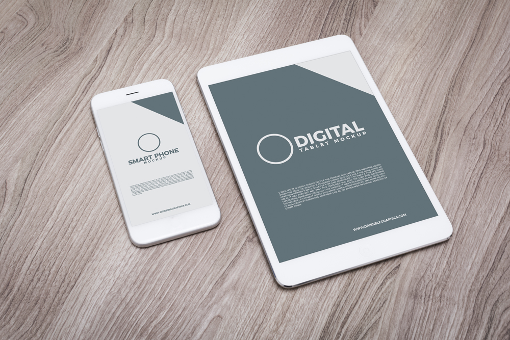 Free-Digital-Tablet-With-Smart-Phone-Mockup