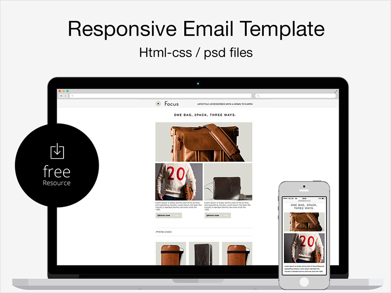 Free-Responsive-Email-PSD-&-HTML-Template
