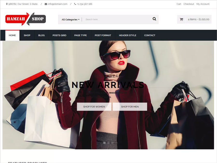 HamzahShop-Modern-e-commerce-WordPress-theme