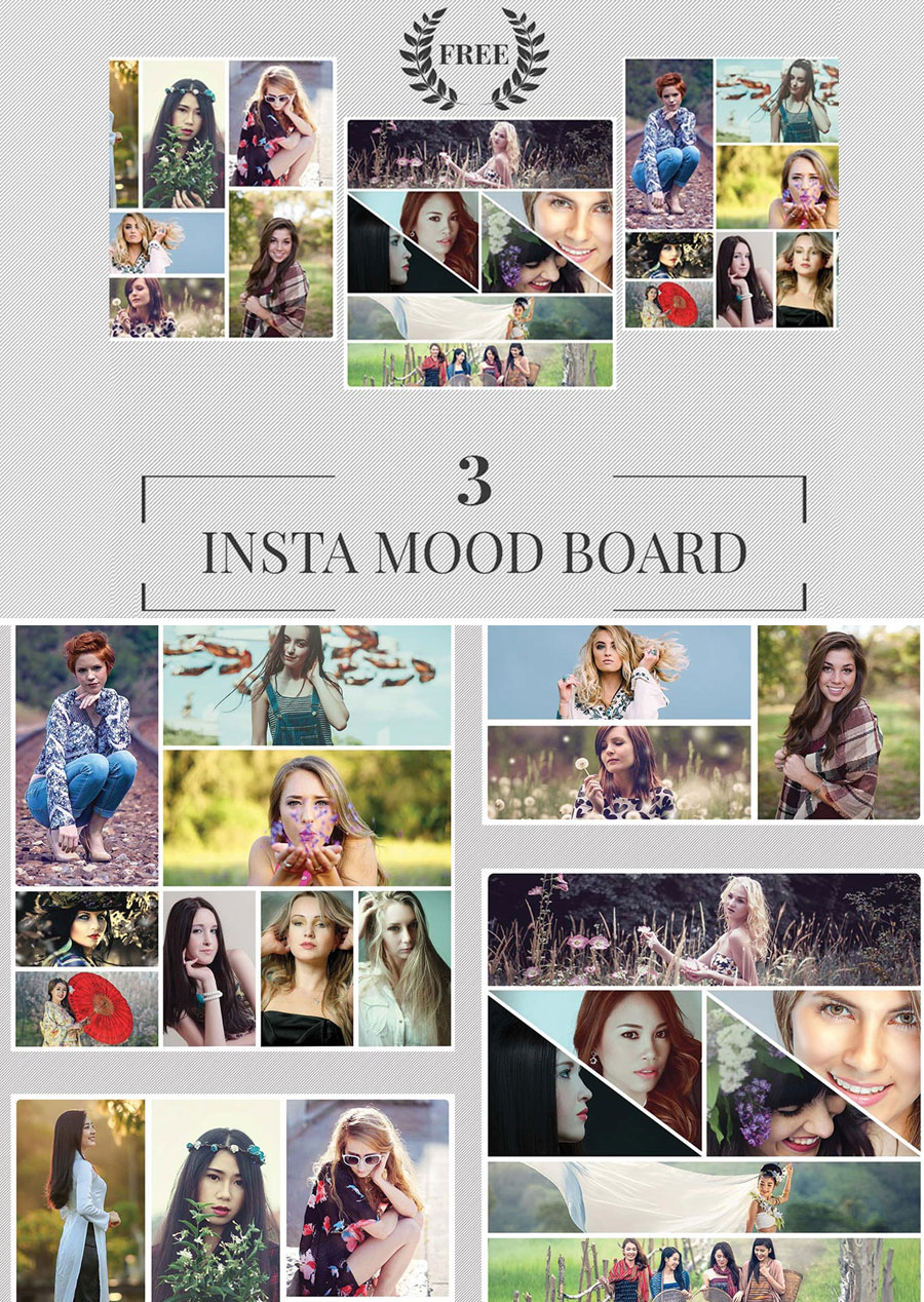 3-Free-Instagram-Mood-Board-Templates