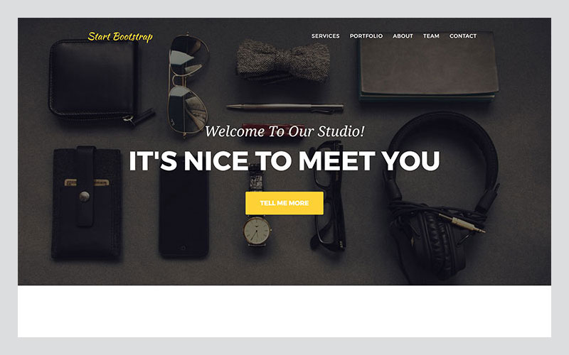 Agency-A-Stylish-One-Page-Free-Bootstrap-Theme