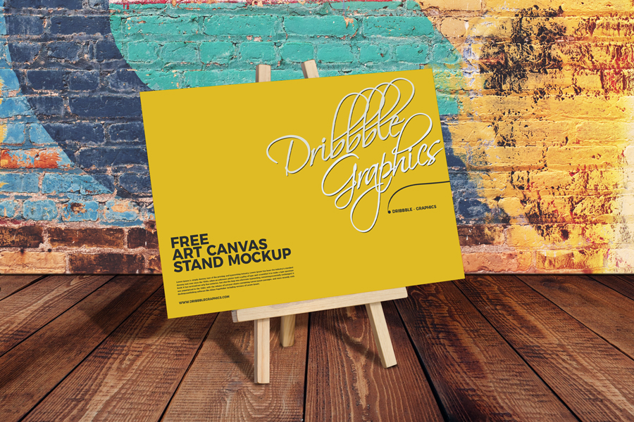 Canvas-Stand-Mockup-PSD