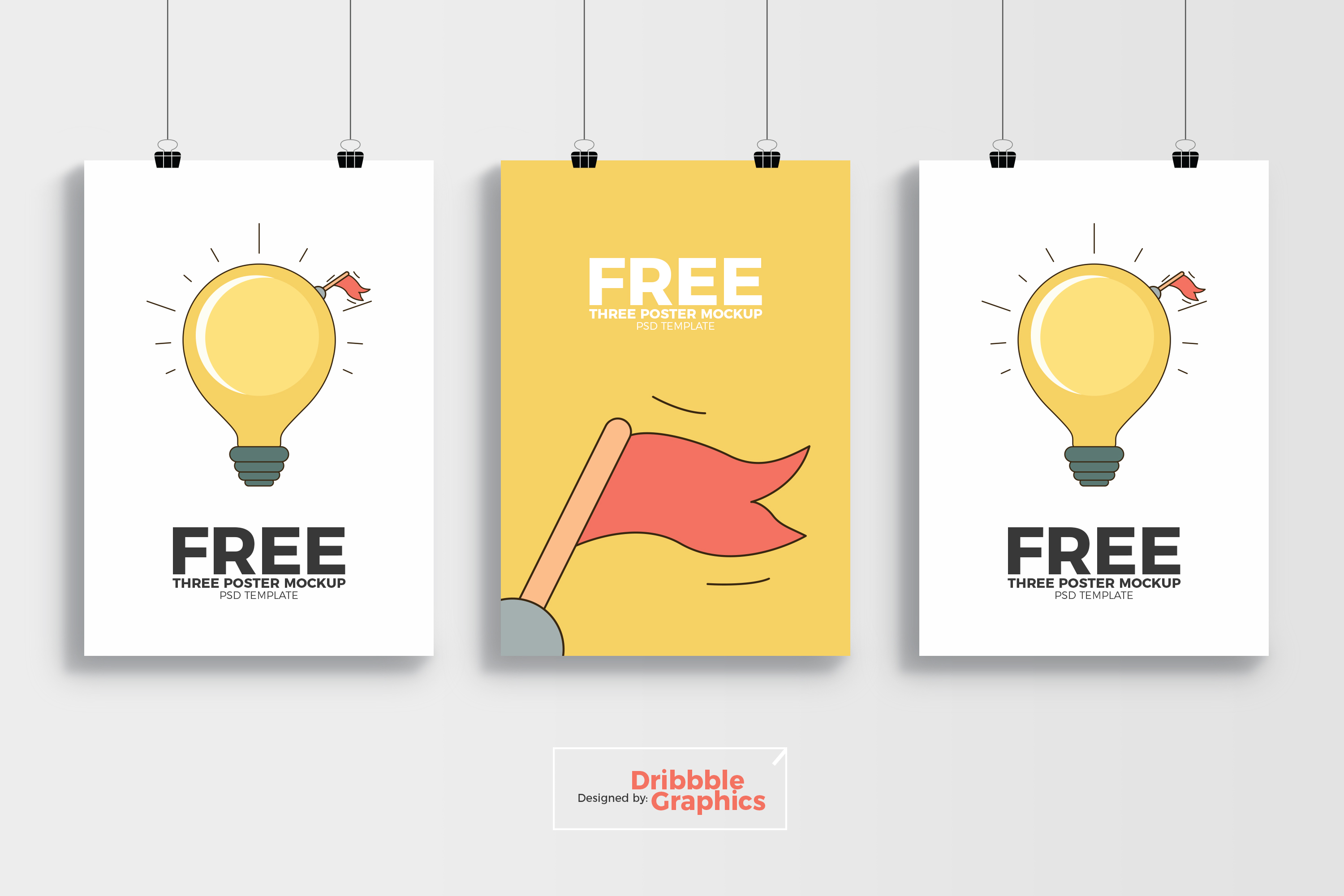 Card Ideas Free 3 Poster Mockup Psd Template Dribbble Graphics