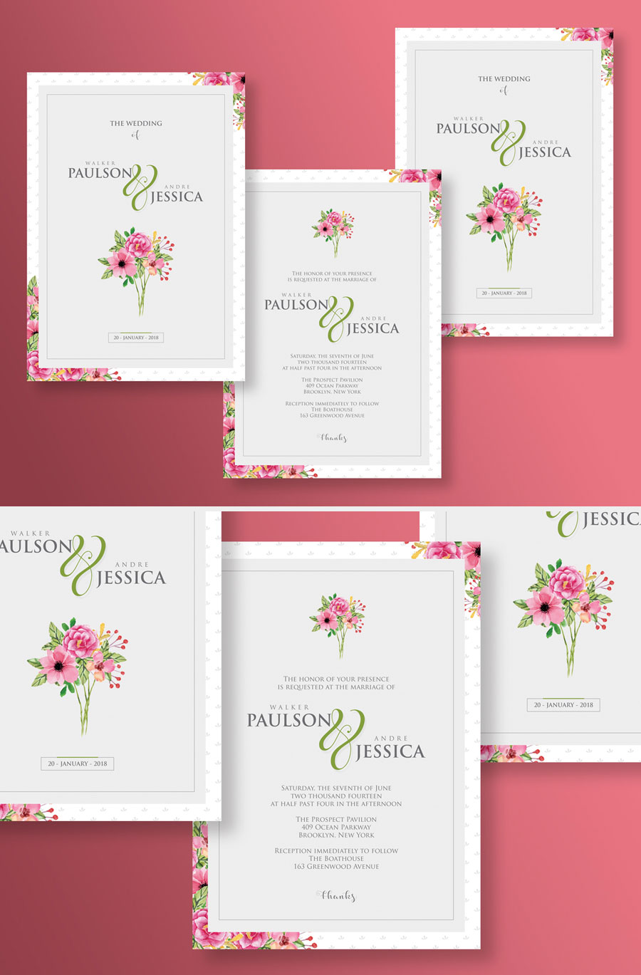 Free-Beautiful-Floral-Wedding-Invitation-Templates